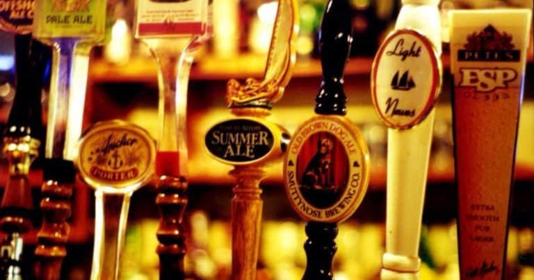 Beer on tap at Broadway Brew House