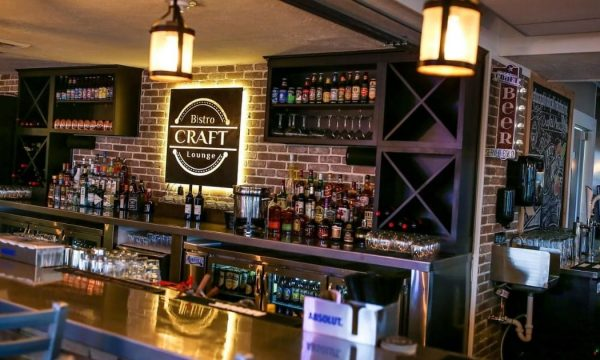Interior bar image at Craft Bistro and Lounge in downtown New Philadelphia, Ohio