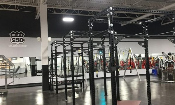 Gym equipment at Route 250 health and fitness