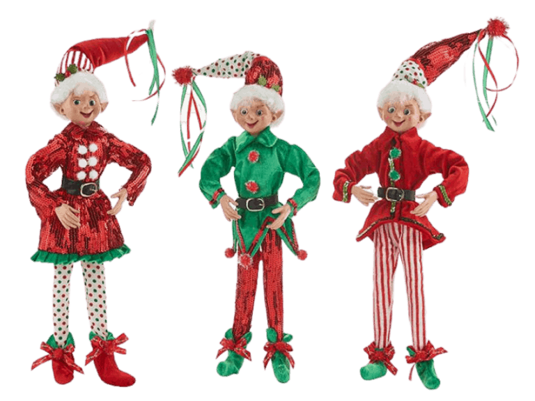 Three elf dolls